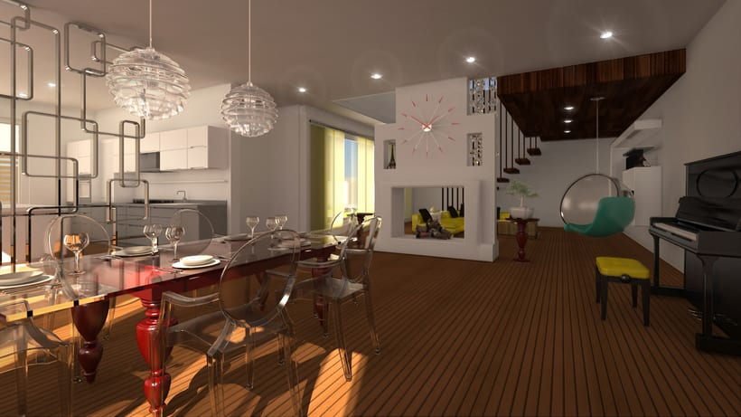 Loft House 3D max V-Ray Photoshop -1