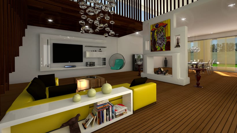 Loft House 3D max V-Ray Photoshop 1