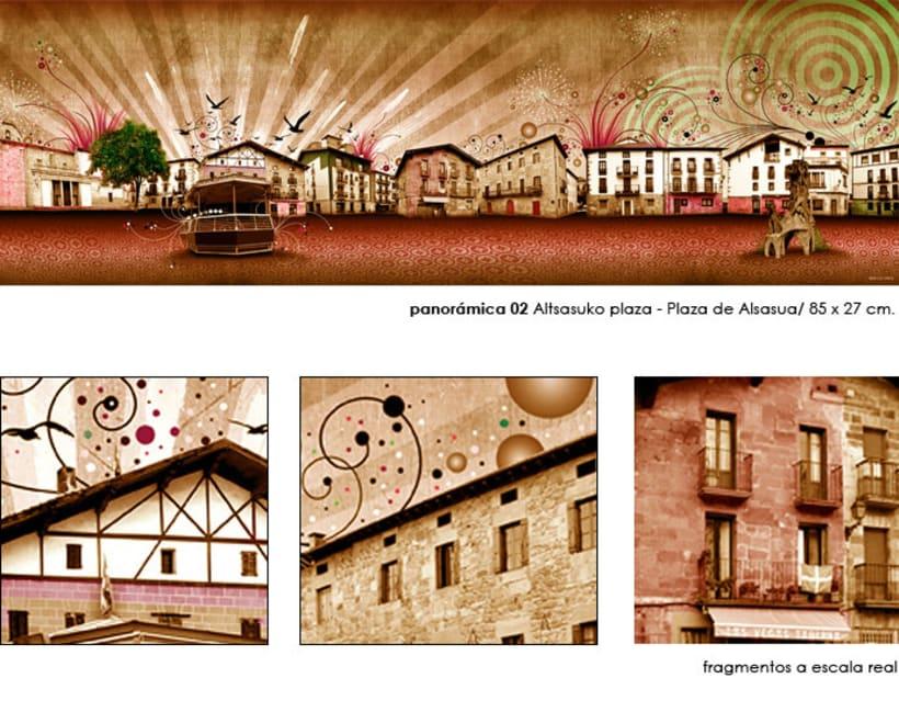 Panorámica / Altsasuko plaza - Plaza de Alsasua (Navarra) 5