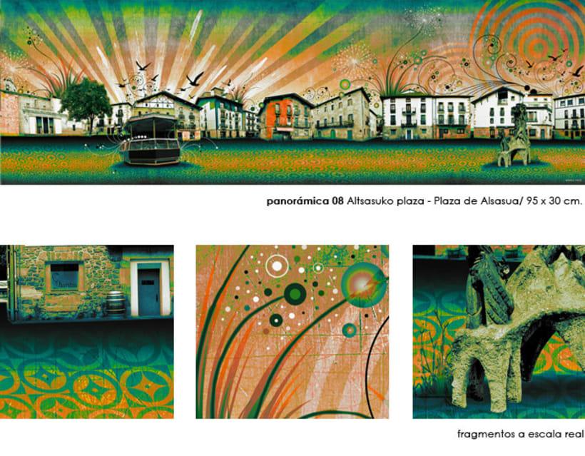 Panorámica / Altsasuko plaza - Plaza de Alsasua (Navarra) 11