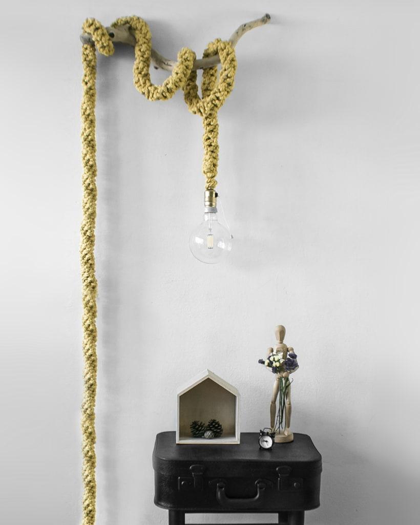 Lámpara XL Crochet 0