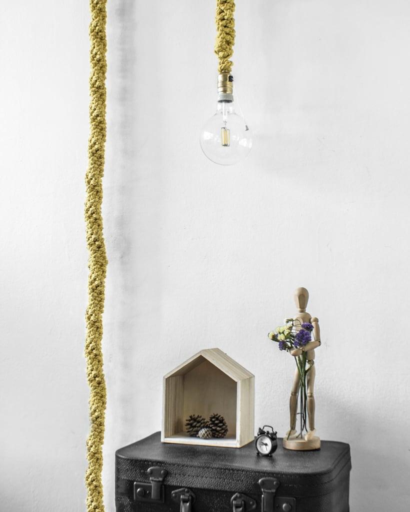 Lámpara XL Crochet 2