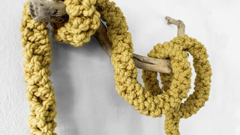 Lámpara XL Crochet 8