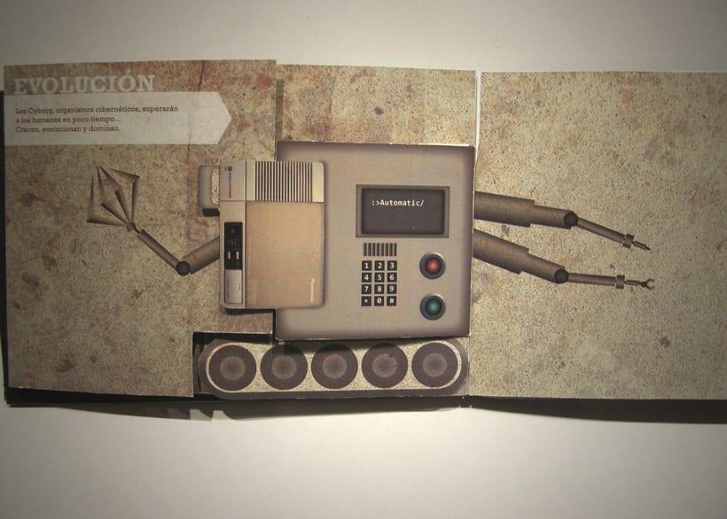 Libro objeto | Conceptualización del film Terminator 4