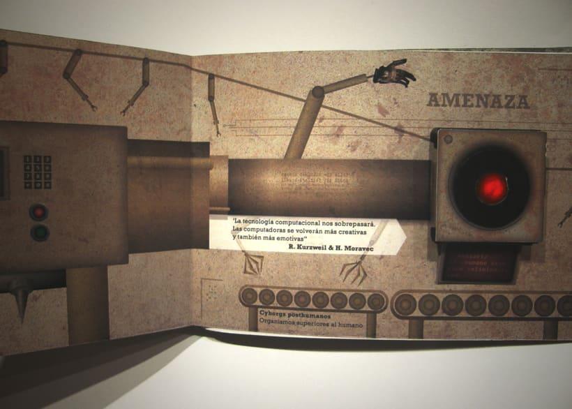 Libro objeto | Conceptualización del film Terminator 7