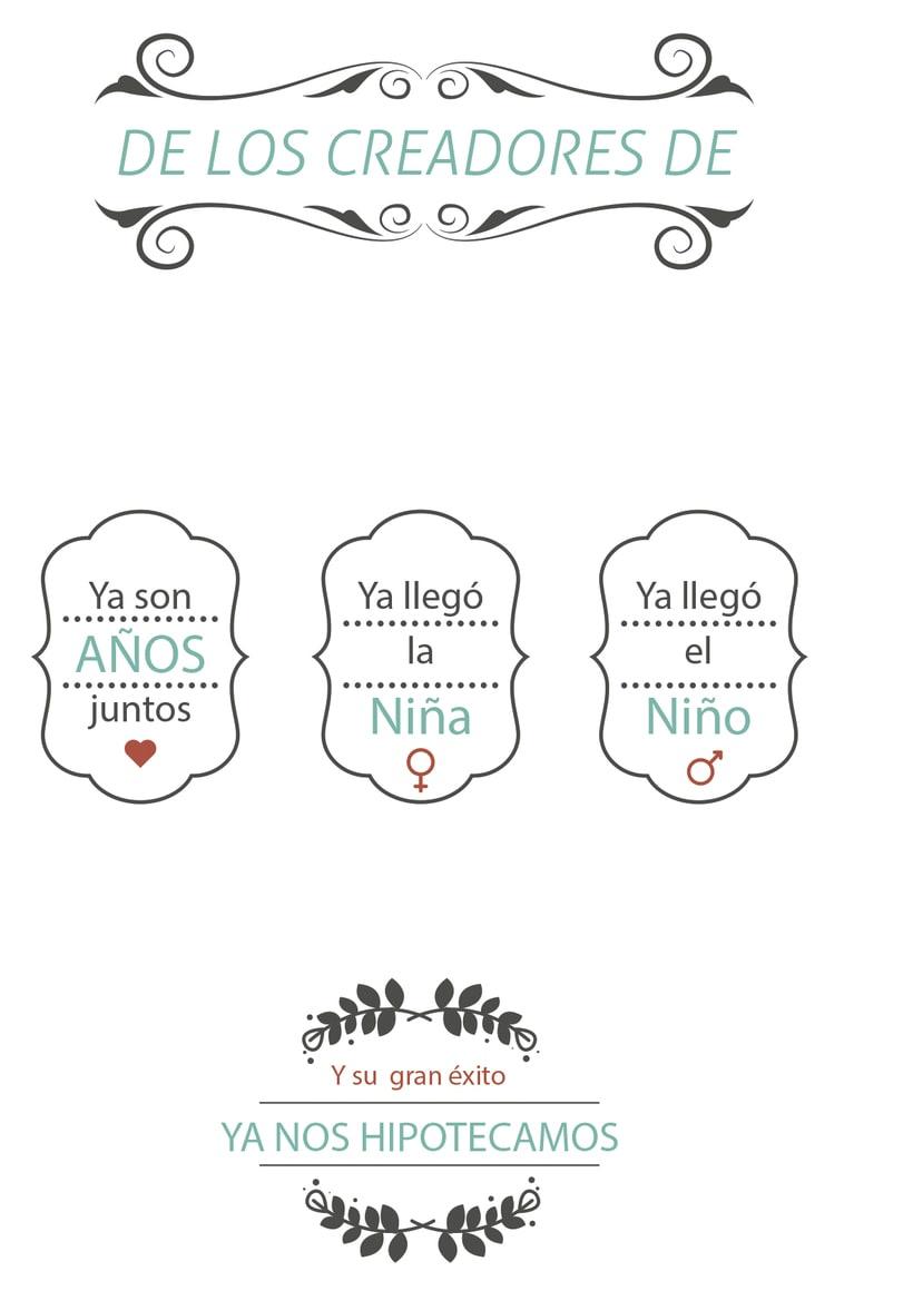 Elementos para invitación de boda (informal) 0