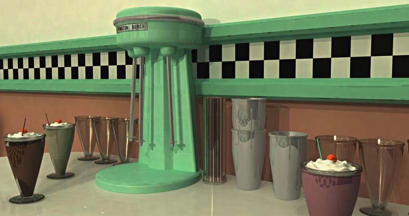 50s Diner 3D Modeling 1