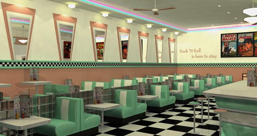 50s Diner 3D Modeling 2