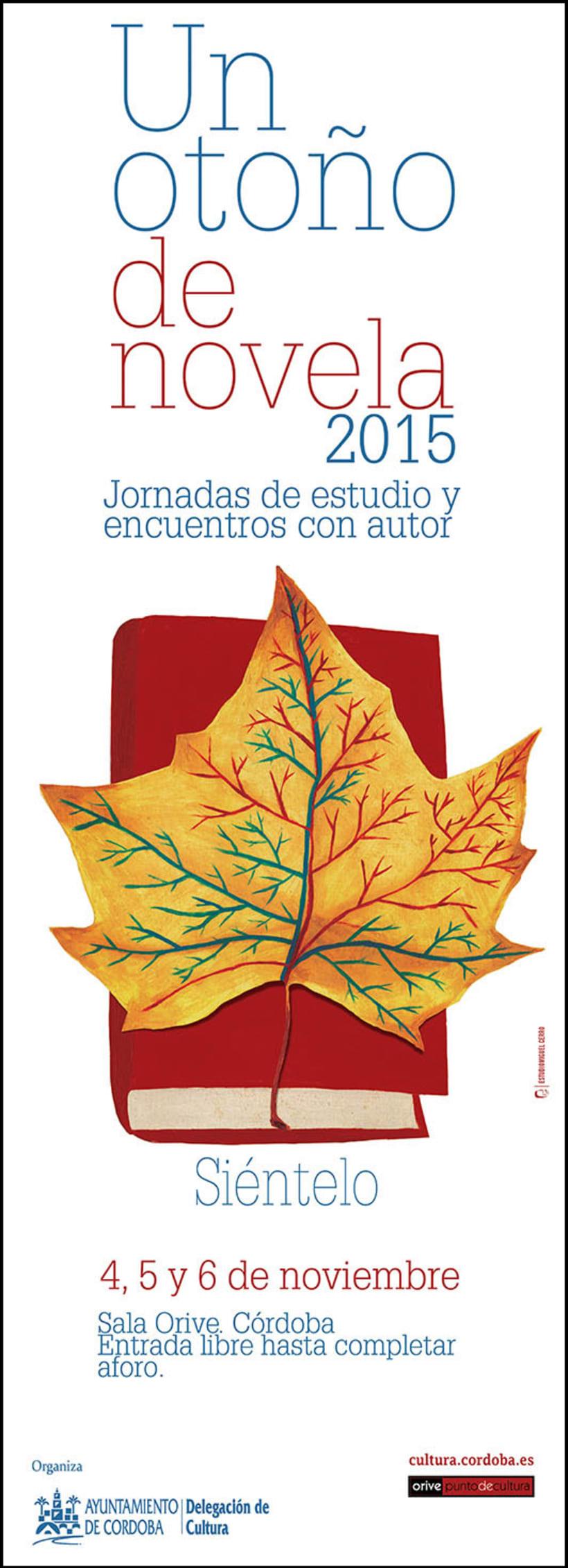 Cartel para Un otoño de novela, 2015 -1