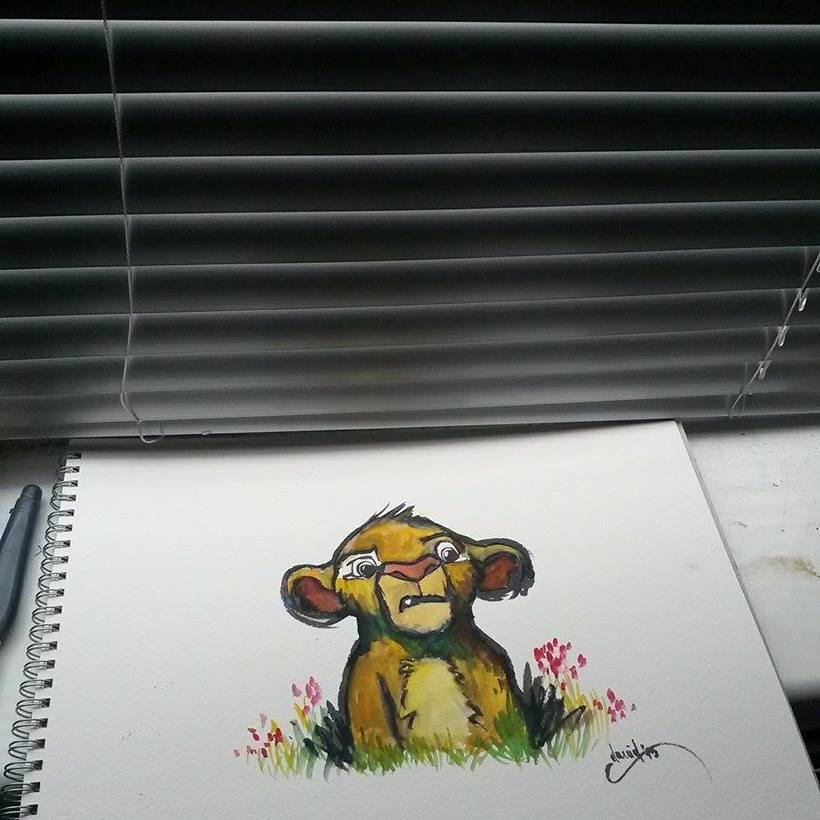 Simba Watercolor  0