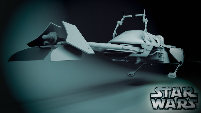 Speeder bike Star Wars 0