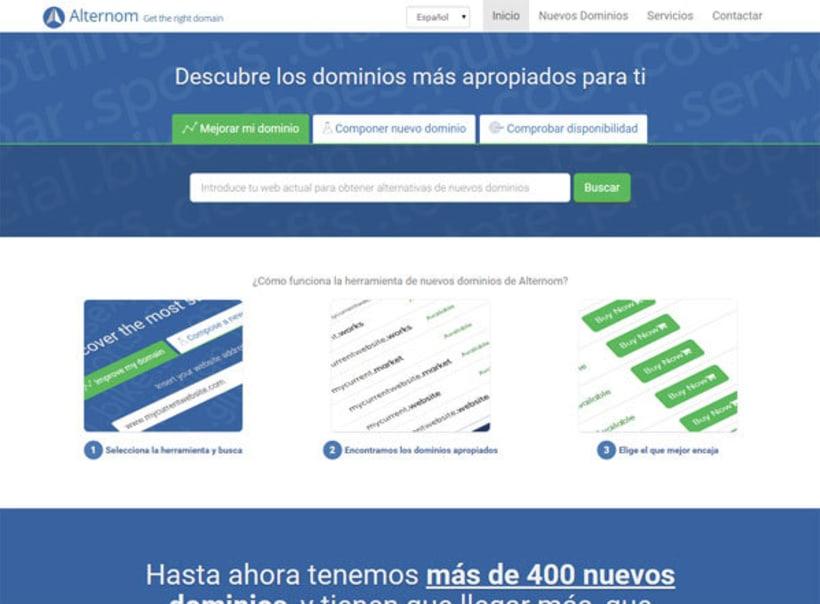 Alternom.com - Descubre los dominios más apropiados para tu proyecto 1