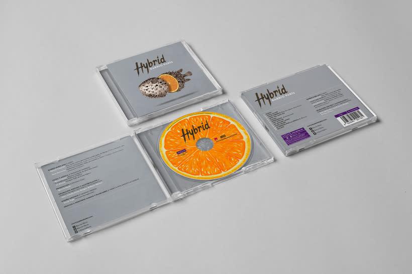 """""""Hybrid"""" album cover for Barrio París 3"""
