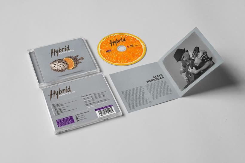 """""""Hybrid"""" album cover for Barrio París 4"""