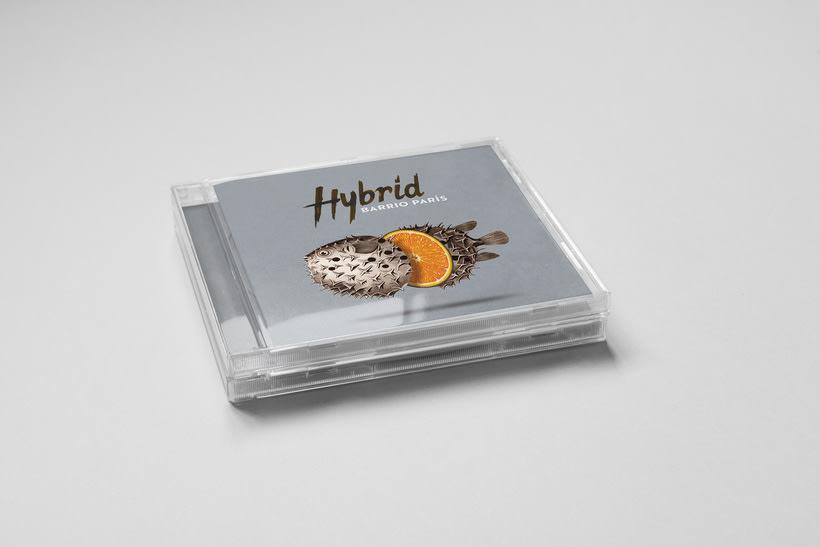 """""""Hybrid"""" album cover for Barrio París 2"""