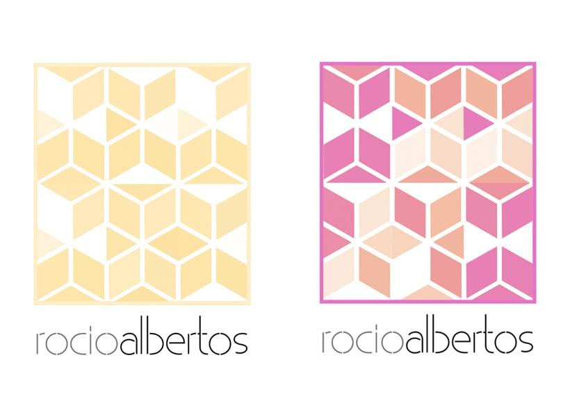 Mi Proyecto del curso Motion graphics y diseño generativo - Logotipo Rocío Albertos 2