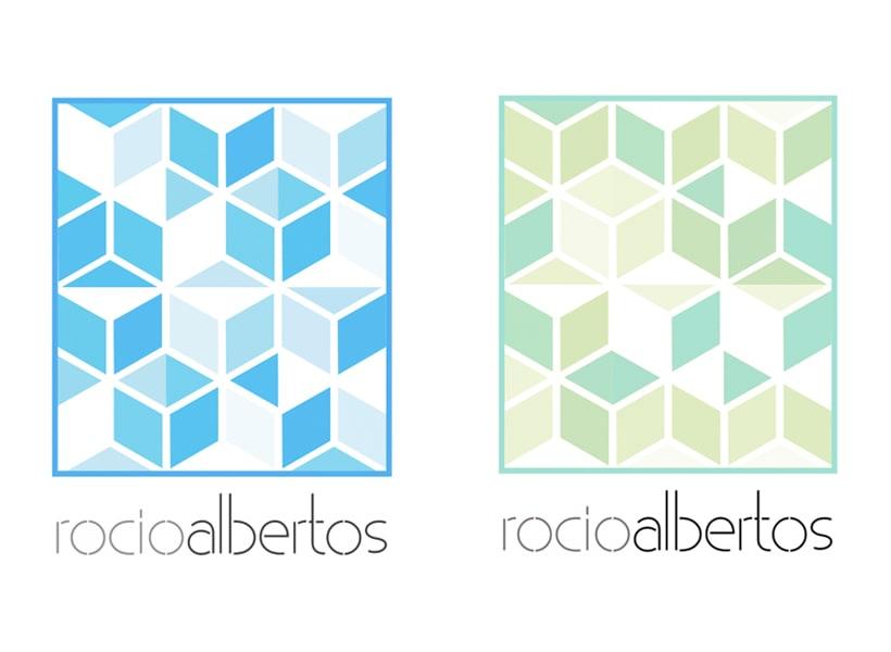 Mi Proyecto del curso Motion graphics y diseño generativo - Logotipo Rocío Albertos 3