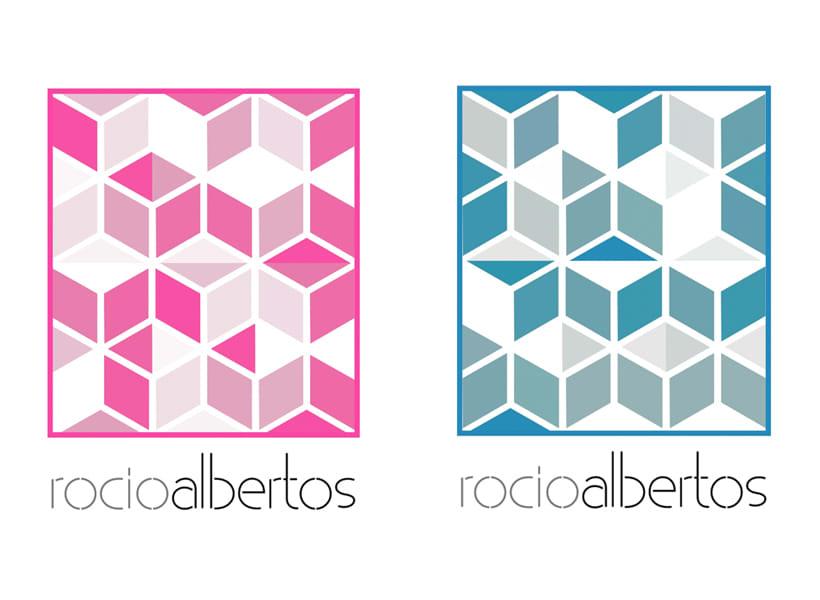 Mi Proyecto del curso Motion graphics y diseño generativo - Logotipo Rocío Albertos 4