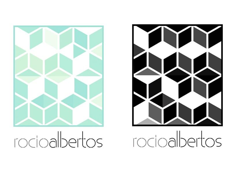Mi Proyecto del curso Motion graphics y diseño generativo - Logotipo Rocío Albertos 5