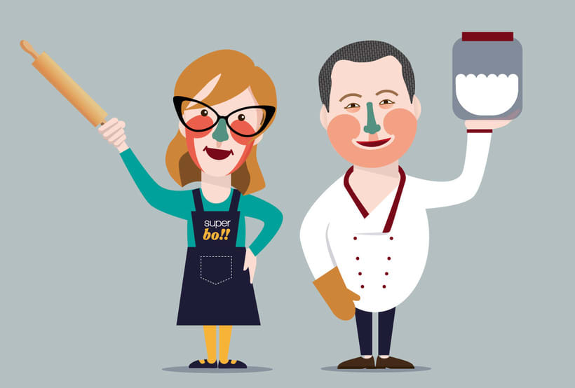 Characterization for Superbó cooking school 1