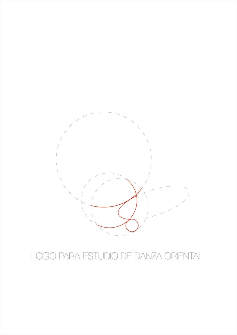 Logo para estudio de danza oriental 0