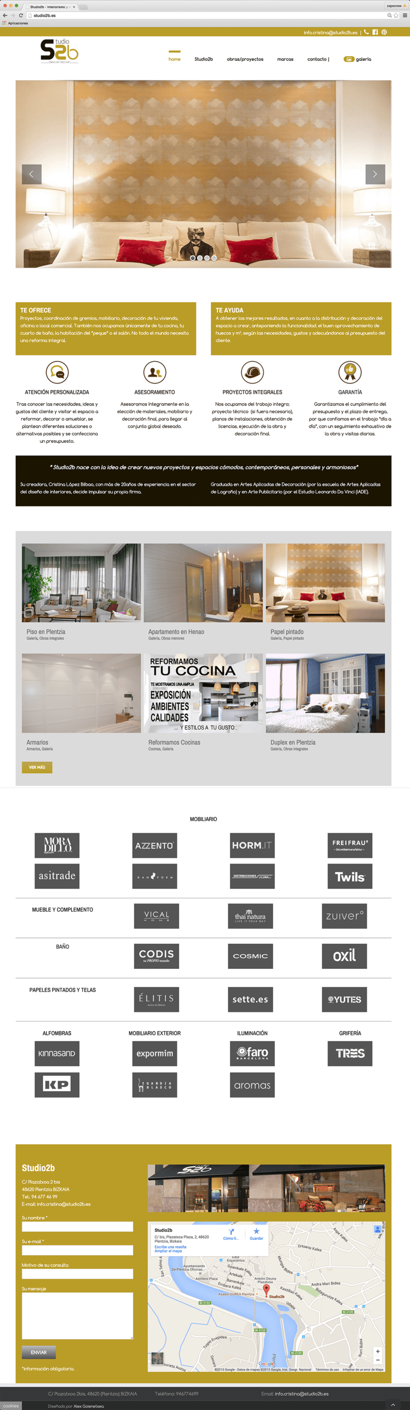 Página web studio2b.es 2
