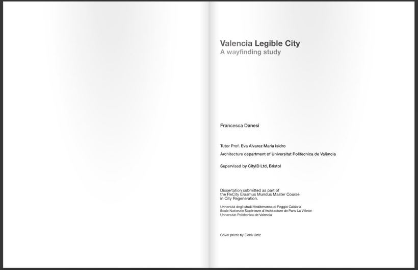 Dissertation project - Valencia Legible City, A wayfinding study 1
