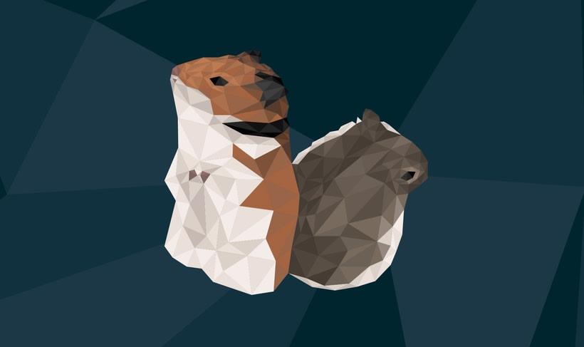 LowPoly Hamsters -1