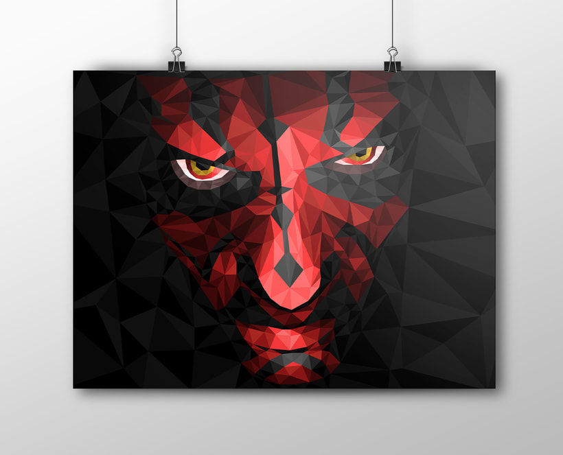 Low Poly Darth Maul -1