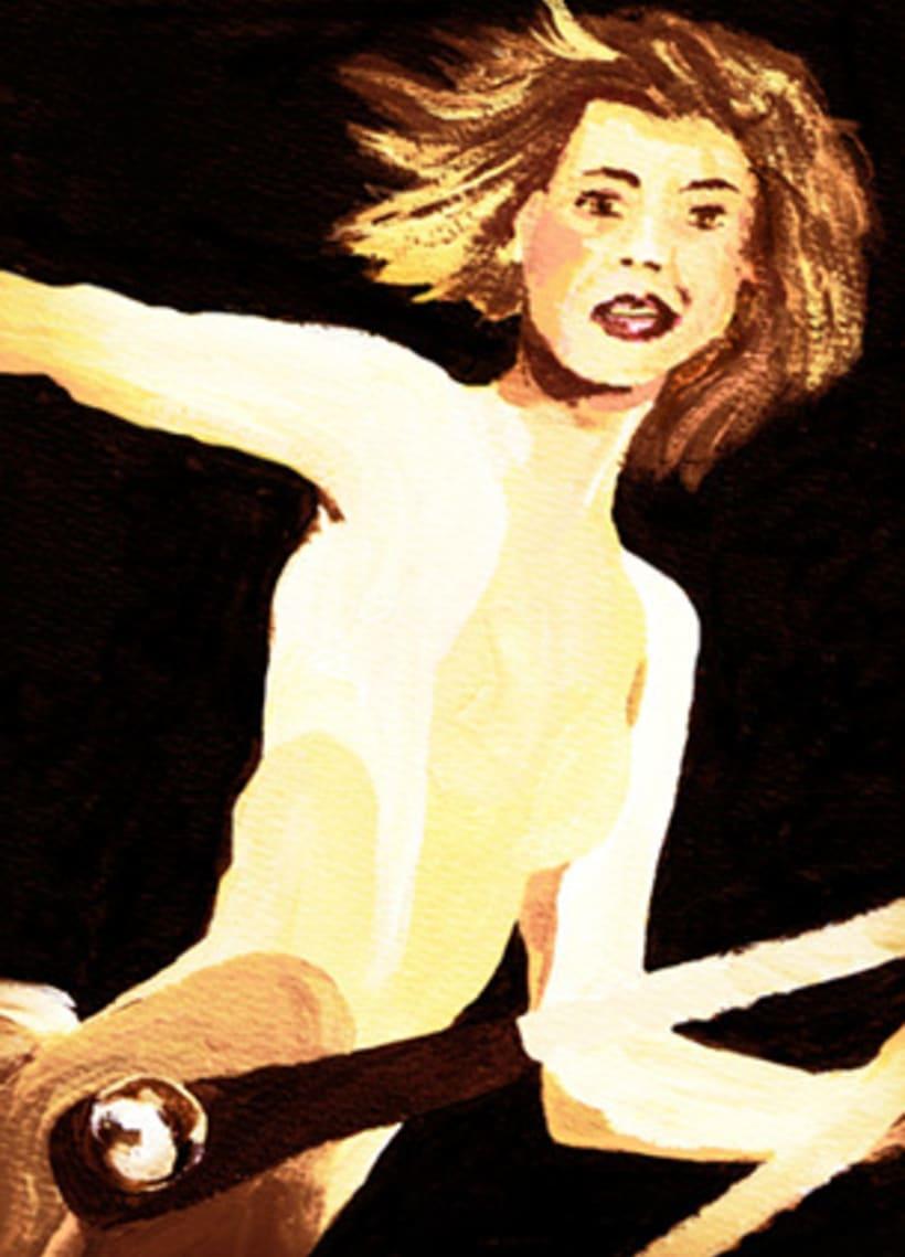 """Il·lustració color """"Circ"""" Curs Il·lustració de Maria Beitia  0"""