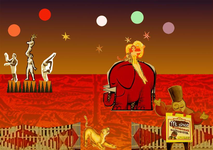"""Collage per a Paper de paret Infantil """"Circ"""" -1"""