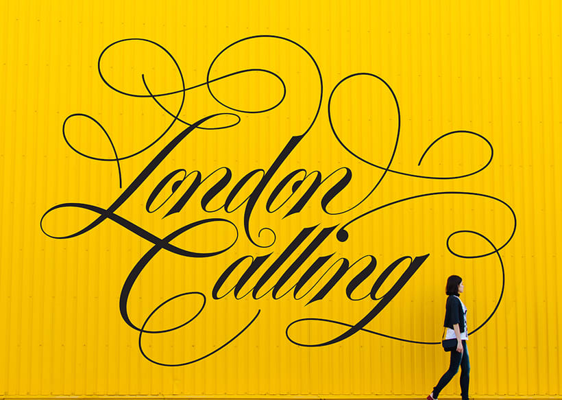 London Calling – Hand Lettering. 2