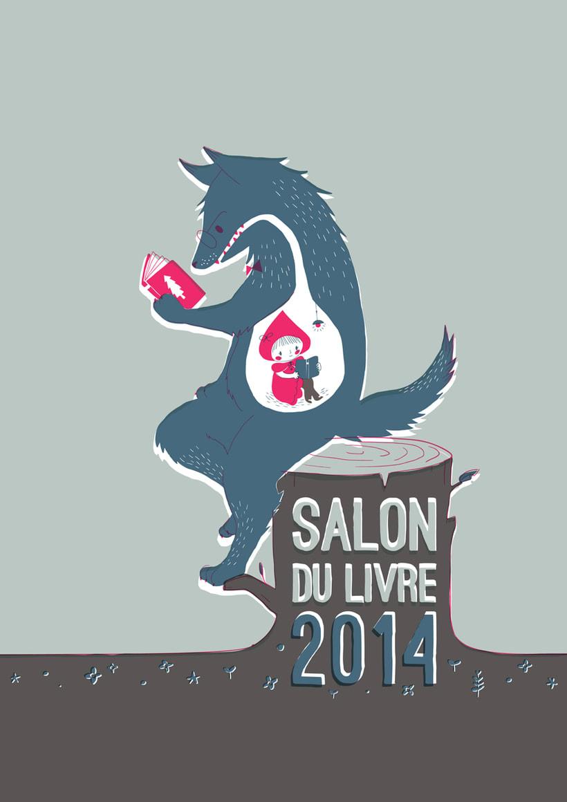 Cartel para el salón del libro de París 2014 0