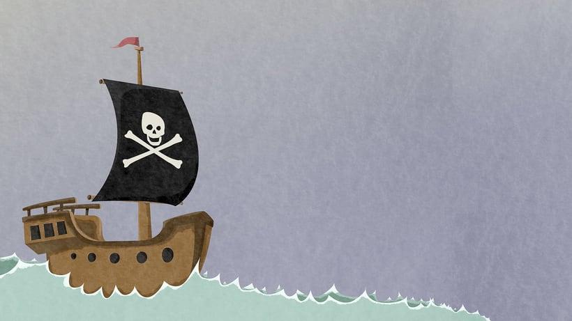 Ilustraciones Pirata pata de palo . Fábula infantil 1