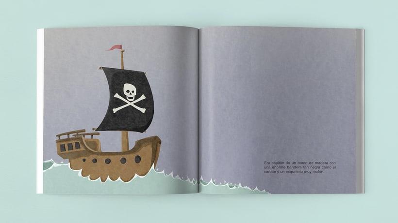 Ilustraciones Pirata pata de palo . Fábula infantil 5