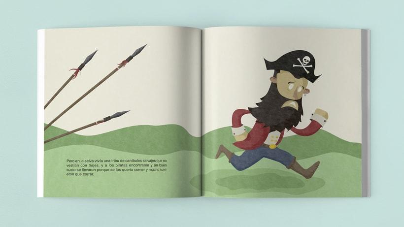 Ilustraciones Pirata pata de palo . Fábula infantil 6