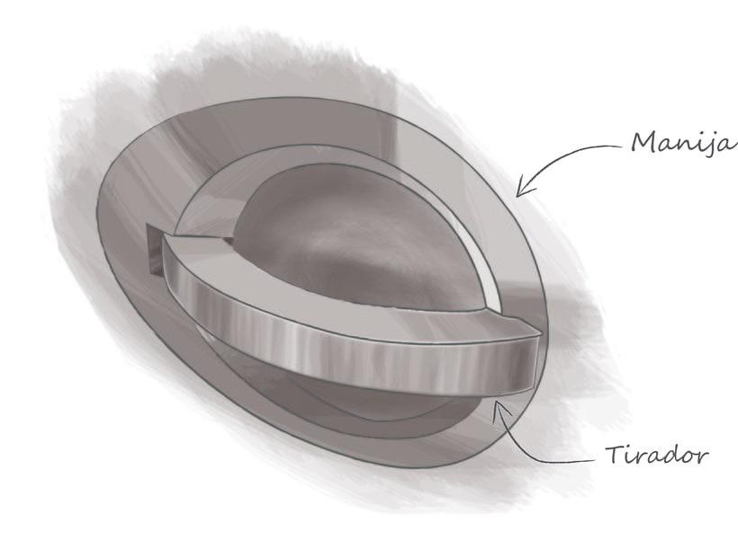 Desarrollo de manilla interior para concept car Niema 0