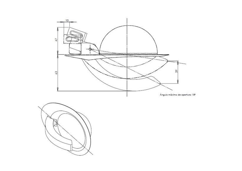 Desarrollo de manilla interior para concept car Niema 5