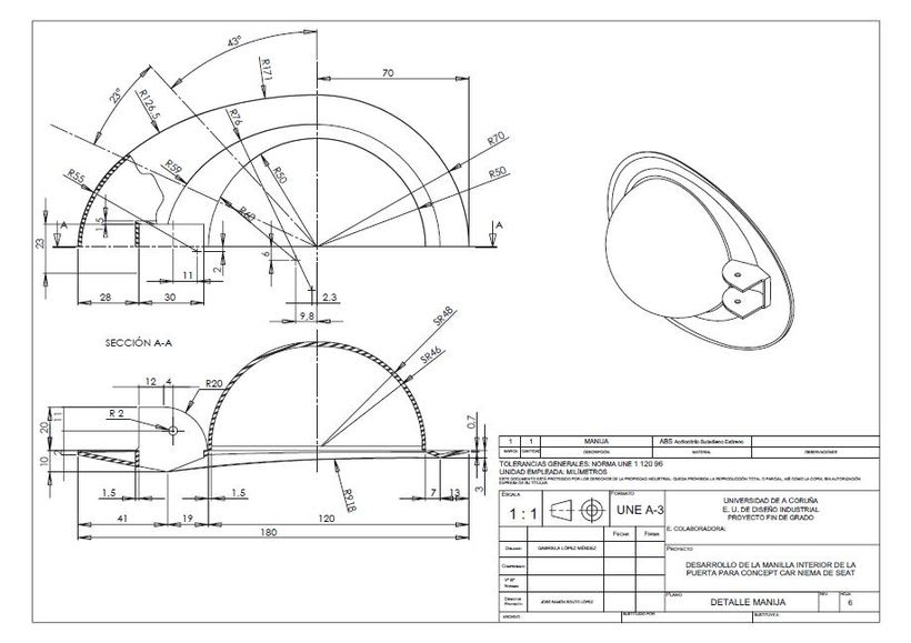 Desarrollo de manilla interior para concept car Niema 6