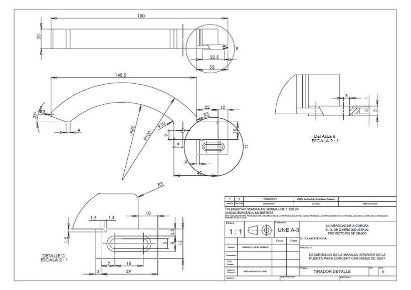 Desarrollo de manilla interior para concept car Niema 7
