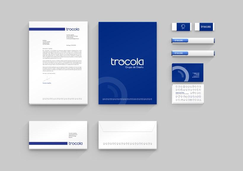 Diseño gráfico corporativo para Trócola 3