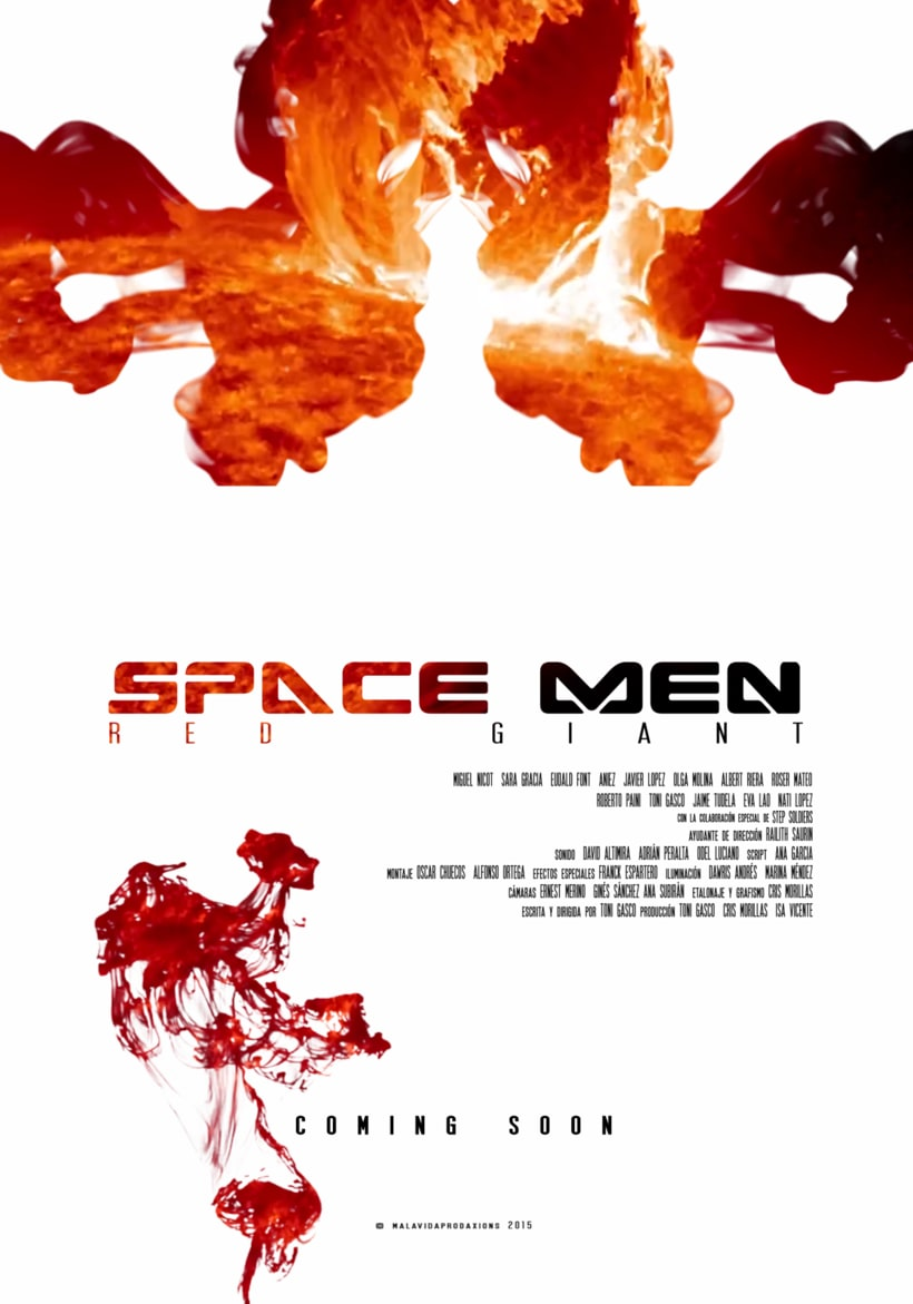 Poster Space Men  0