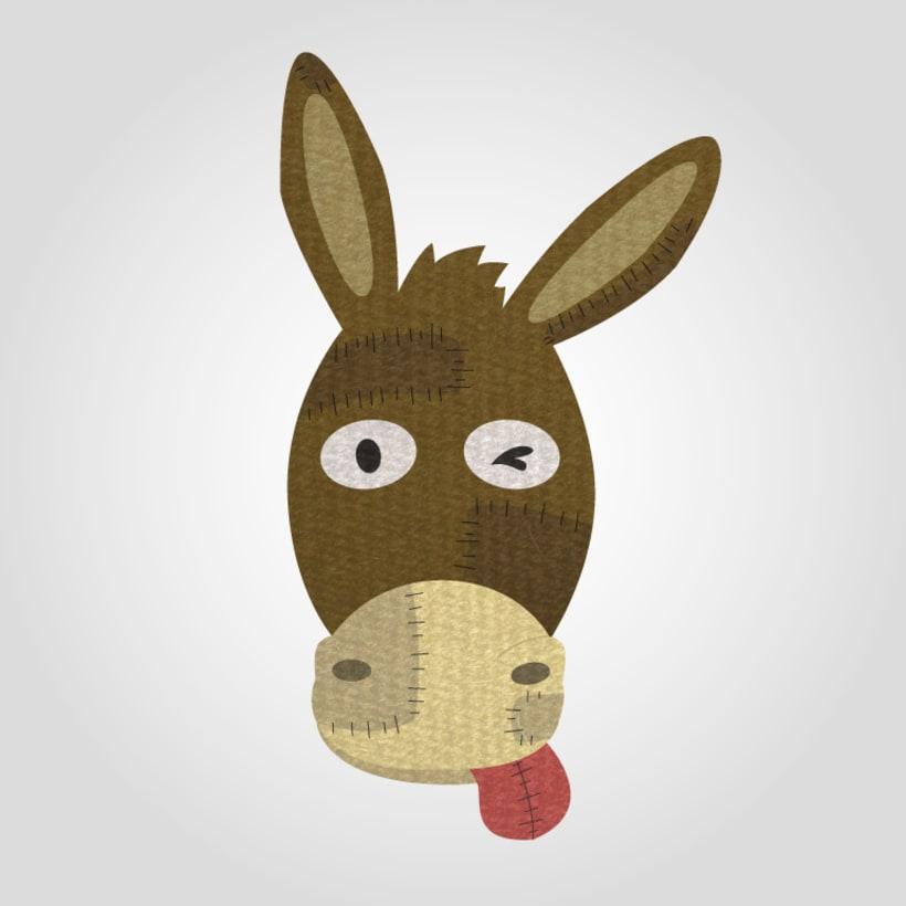 #diseño para @elburrin_cosines #logo #vectorial #burro -1