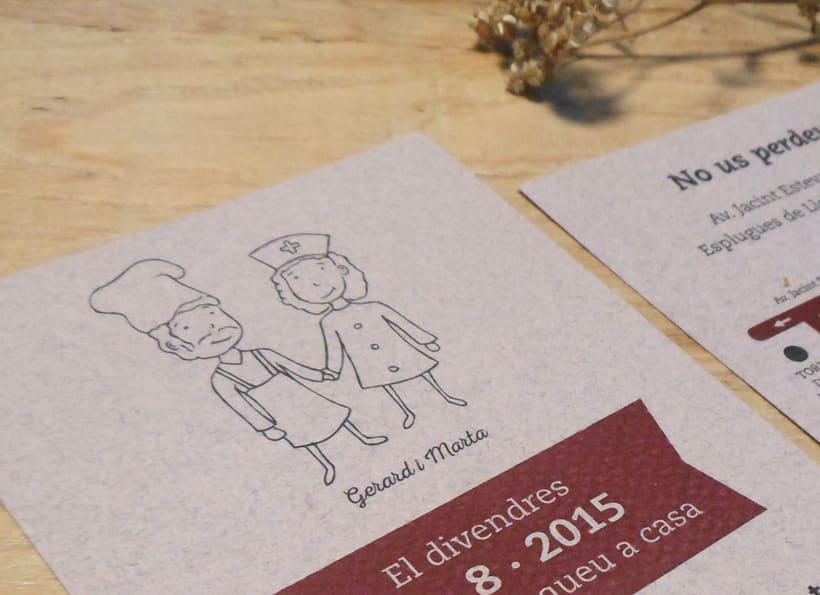 Invitación de boda G&M 3