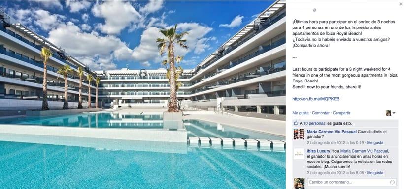 Ibiza Luxury - Gestión de redes sociales en Facebook, Twitter, Instagram y A Small World así como comunicación con prensa. 0