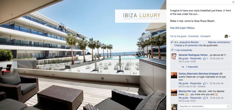 Ibiza Luxury - Gestión de redes sociales en Facebook, Twitter, Instagram y A Small World así como comunicación con prensa. 1