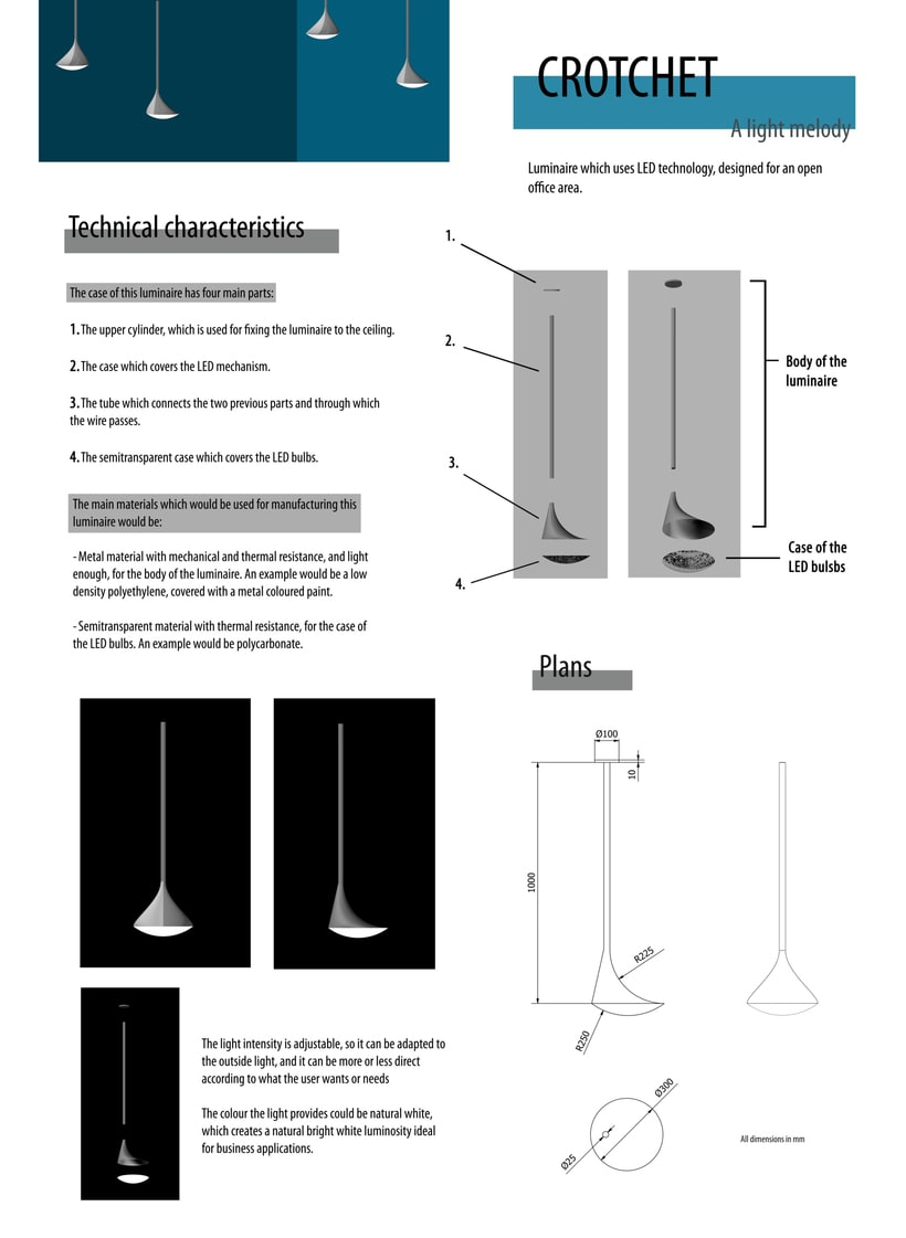 Concurso Auralight: Luminaria para oficina de planta abierta. Clasificada finalista. 0