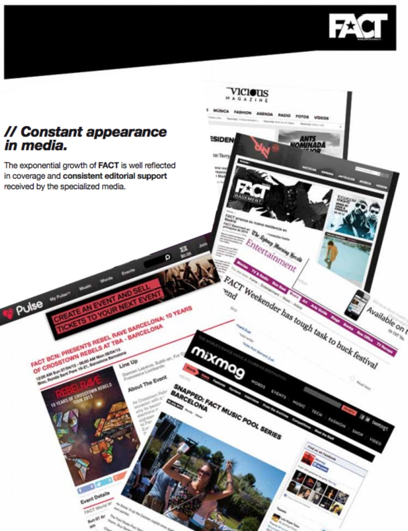 FACT WORLDWIDE Dossieres de comunicación en inglés y castellano 2