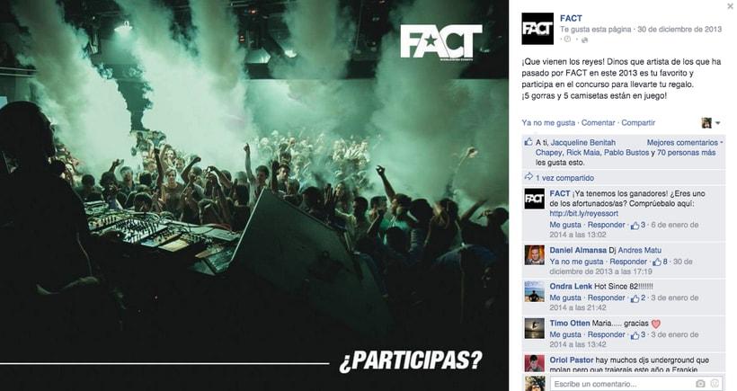 FACT WORLDWIDE - Gestión de sus páginas de Facebook: sorteos, posts, respuestas, campañas... 4