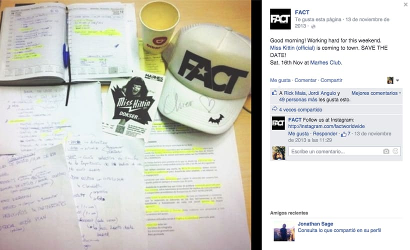 FACT WORLDWIDE - Gestión de sus páginas de Facebook: sorteos, posts, respuestas, campañas... 9